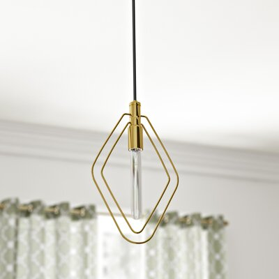 Watermill 1-Light Mini Pendant Finish: Aged Brass