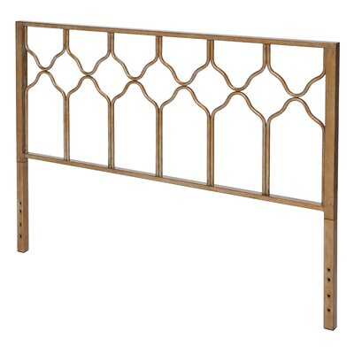 Hasse Glam Open-Frame Headboard Size: Twin, Finish: Gold