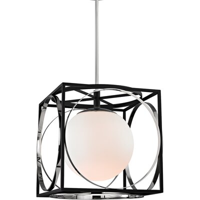 Romans 1-Light Foyer Pendant Finish: Polished Nickel, Size: 14.25 H X 13.5 W X 13.5 D