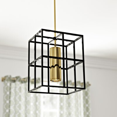 Veronica 1-Light Foyer Pendant Finish: Aged Brass