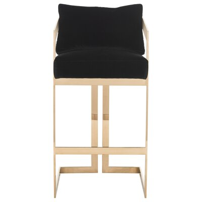 Ulverston 29.9 Bar Stool Seat Color: Black