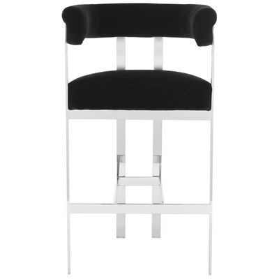 Avillion 30 Bar Stool Seat Color: Black