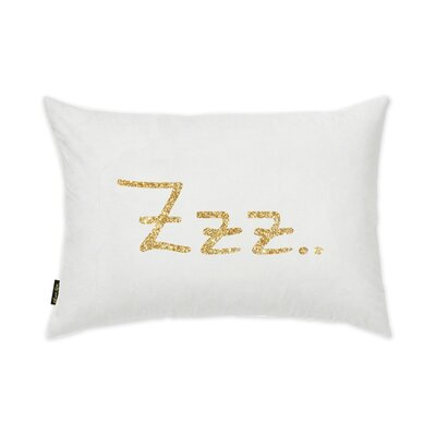 Quintrell ZZZ Gold Lumbar Pillow
