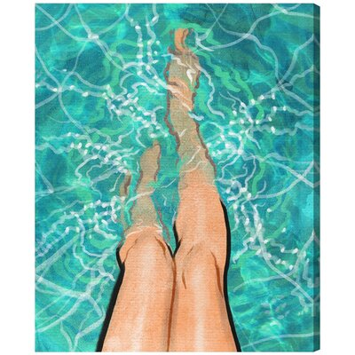 Summer Legs Painting Print on Wrapped Canvas MRCR4927 32347933