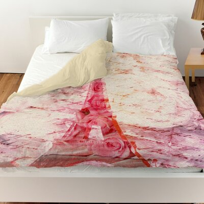 Pyrite Love Letters Duvet Cover Size: Queen