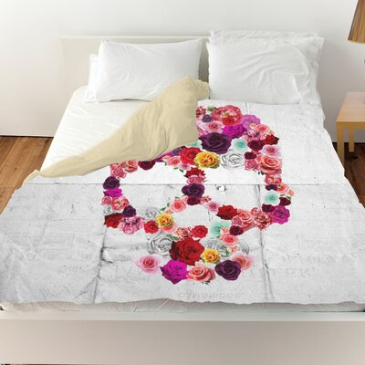 Pyrite Bed of Roses Duvet Cover Size: Queen