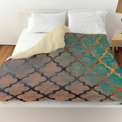 Pyrite Amour Arabesque Duvet Cover Size: Queen