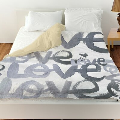 Pudsey Four Letter Word Duvet Cover Size: Queen