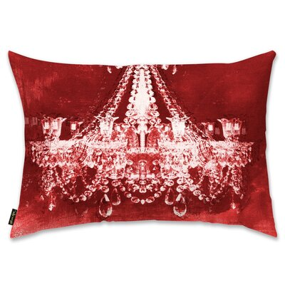 Holiday Dramatic Entrance  Throw Pillow Color: Red Velvet