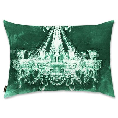 Holiday Dramatic Entrance  Throw Pillow Color: Green