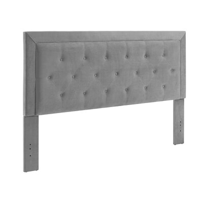 Birute Upholstered Panel Headboard Size: King