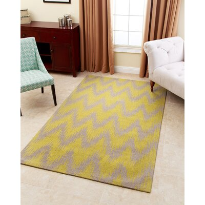 Levon Hand-Tufted Gray Area Rug Rug Size: 5 x 8