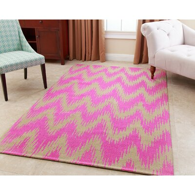 Levon Hand-Tufted Pink Area Rug Rug Size: 3 x 5