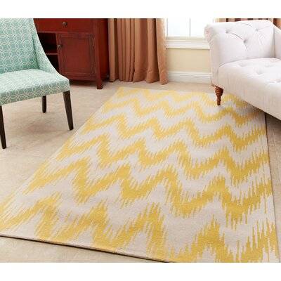 Levon Hand-Tufted Dijon Yellow Area Rug Rug Size: 3 x 5