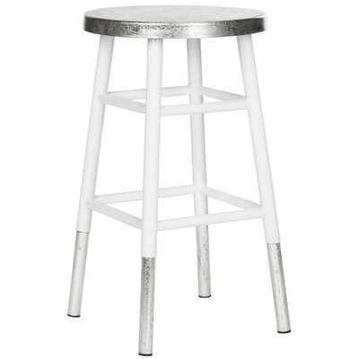 Torquay 24 Bar Stool Finish: White/Silver