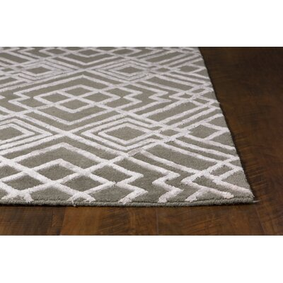 Robelmont Hand-Tufted Brown/Ivory Area Rug Rug Size: 33 x 53
