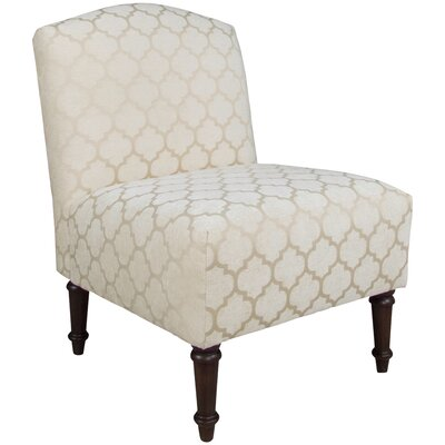 Springdale Camel Back Slipper Chair Upholstery: Pastis Sand, Nailhead Detail: No Trim