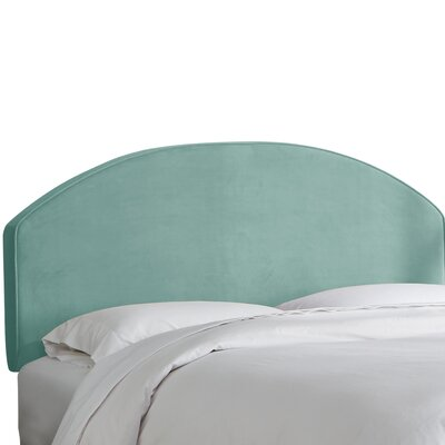 Chanler Velvet Upholstered Panel Headboard Upholstery Color: Caribbean, Size: Queen