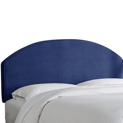 Chanler Velvet Upholstered Panel Headboard Size: Full, Upholstery Color: Navy