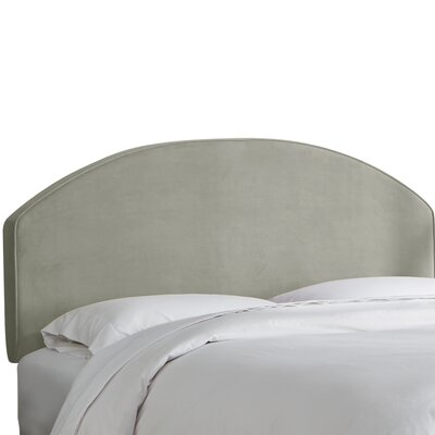 Chanler Velvet Upholstered Panel Headboard Size: King, Upholstery Color: Light Gray