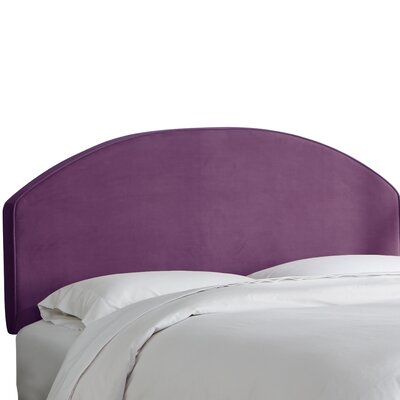 Chanler Velvet Upholstered Panel Headboard Size: Queen, Upholstery Color: Aubergine