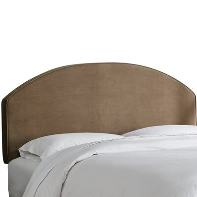 Chanler Velvet Upholstered Panel Headboard Size: Full, Upholstery Color: Cocoa