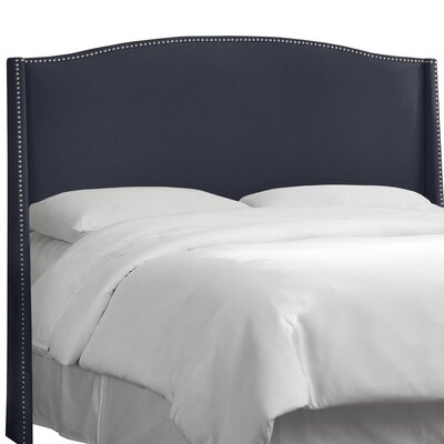 Adamczyk Wingback Headboard Size: King, Upholstery Color: Navy