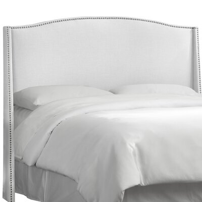 Adamczyk Wingback Headboard Size: King, Upholstery Color: White