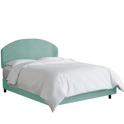 Chanler Upholstered Panel Bed Size: Twin, Upholstery Color: Caribbean