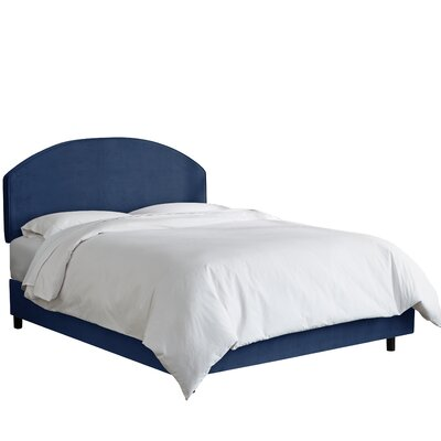 Chanler Upholstered Panel Bed Size: King, Upholstery Color: Navy