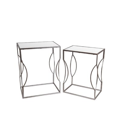 Shannon 2 Piece End Table Set Finish: Silver