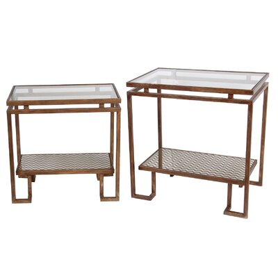 Siobhan 2 Piece End Table Set