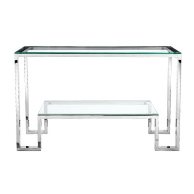 Ellesmere Console Table Finish: High Polish Steel