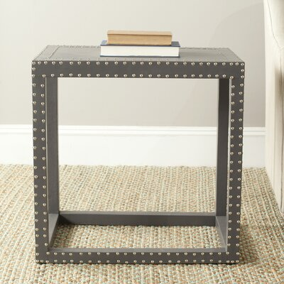 Nicollette End Table Color: Grey