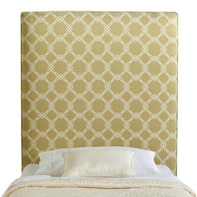 Rosalie Twin Upholstered Panel Headboard Upholstery: Dark Green
