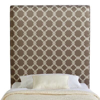 Rosalie Twin Upholstered Panel Headboard Upholstery: Grey