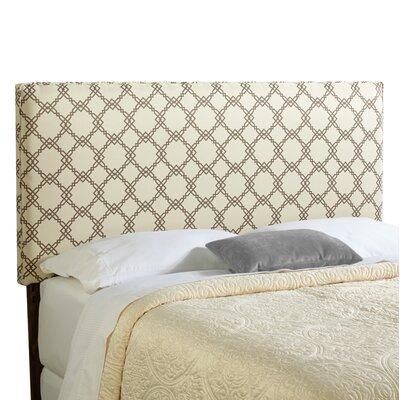 Rosalie Upholstered Panel Headboard Size: King, Upholstery: Ivory/Taupe