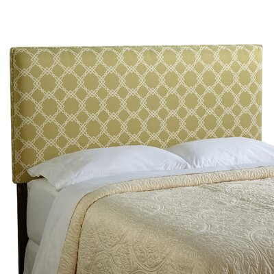 Rosalie Upholstered Panel Headboard Size: Full, Upholstery: Green/Ivory