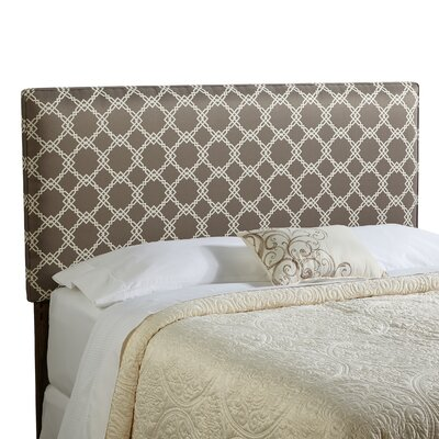 Rosalie Queen Upholstered Panel Headboard Upholstery: Taupe/Ivory