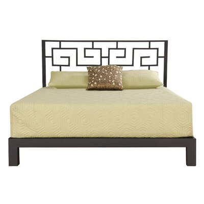 Giacinto Metal Frame Platform Bed Size: Queen, Upholstery: Black