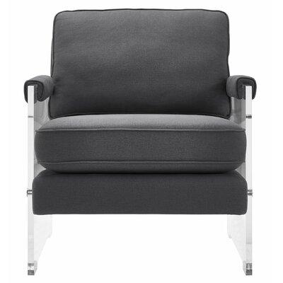 Edi Velvet/Lucite Armchair Upholstery: Gray