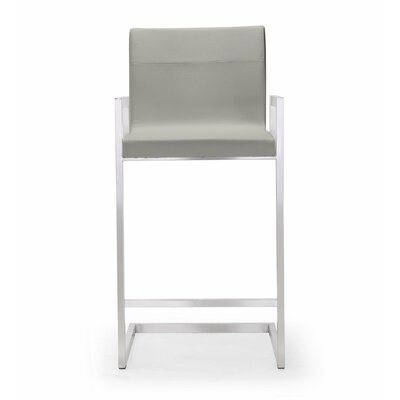 Affonso 26 Bar Stool Upholstery: Light Gray
