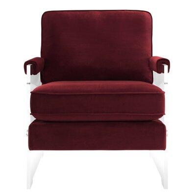 Edi Velvet/Lucite Armchair Upholstery: Maroon