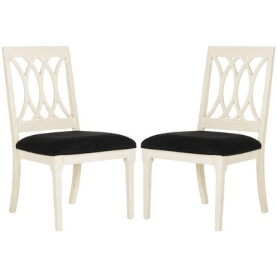 Blumer Side Chair Upholstery: Black