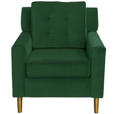 Greer Adobe Armchair Upholstery: Fauxmo Emerald