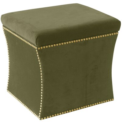 Maghull Storage Ottoman Color: Regal Moss
