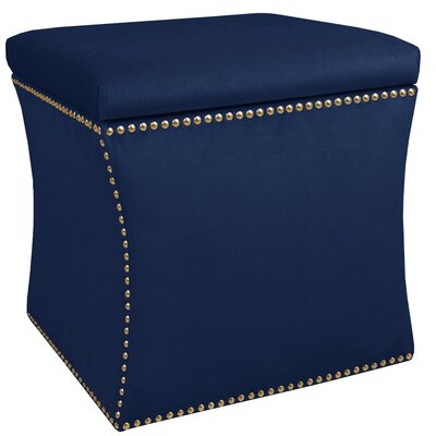 Maghull Storage Ottoman Color: Navy