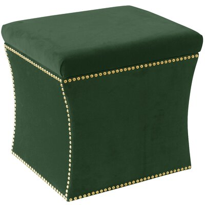 Maghull Storage Ottoman Color: Fauxmo Emerald