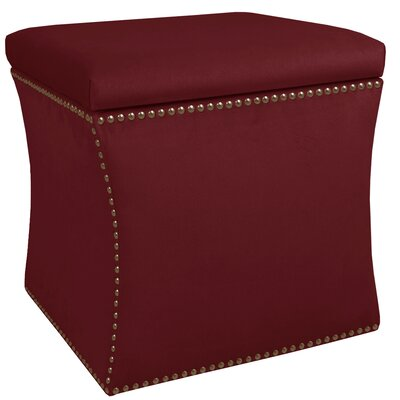 Maghull Storage Ottoman Color: Berry