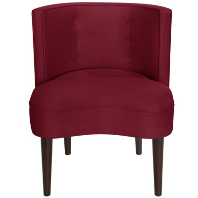 Malabar Barrel Chair Upholstery: Velvet Berry